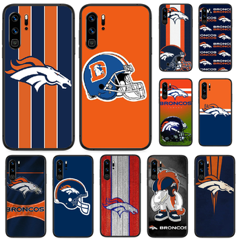 Denver Bronco American Football Phone case For Huawei P 9 Smart 10 20 30 40 8 Lite Mini Z 2019 Pro black cover silicone image