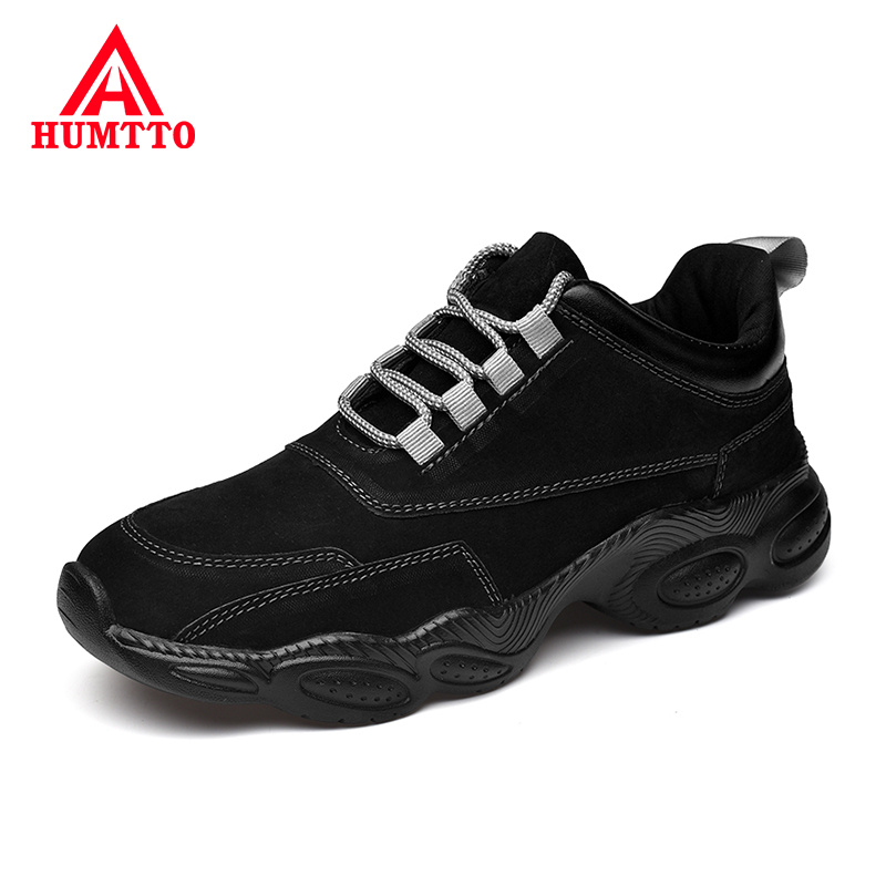 Hot Sale New Genuine Leather Spring Men Shoes Fashion Lace-up Black Casual Mens Shoes Light Comfortable Breathable male Walking Sneakers