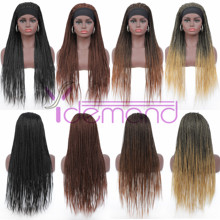 Headband Wigs Braids Synthetic-Hair African Women 4-Colors Long for Youth Youth