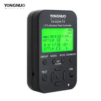 Yongnuo YN-622N-TX YN622N-TX YN 622N TX TTL bezprzewodowy kontroler błysku bezprzewodowa lampa błyskowa wyzwalacz Transceiver dla Nikon lustrzanka cyfrowa tanie i dobre opinie Drut LCD Display