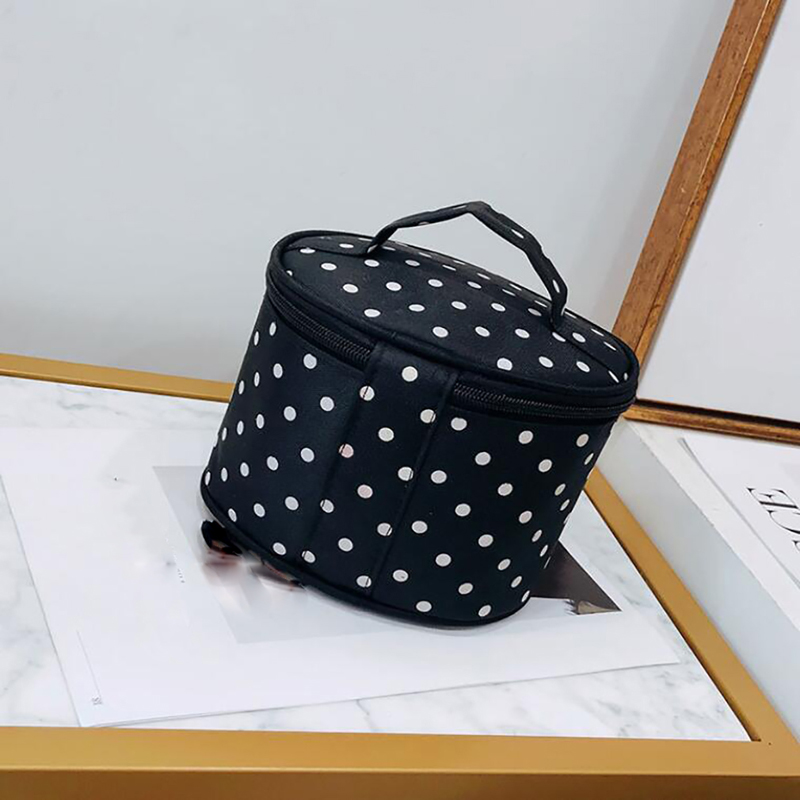Alça redonda dot grande saco cosmético viagem