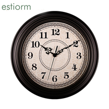 12 inch American style vintage wall clock Silent home decorative round quartz clock  living room office Hanging Wall Clock Watch