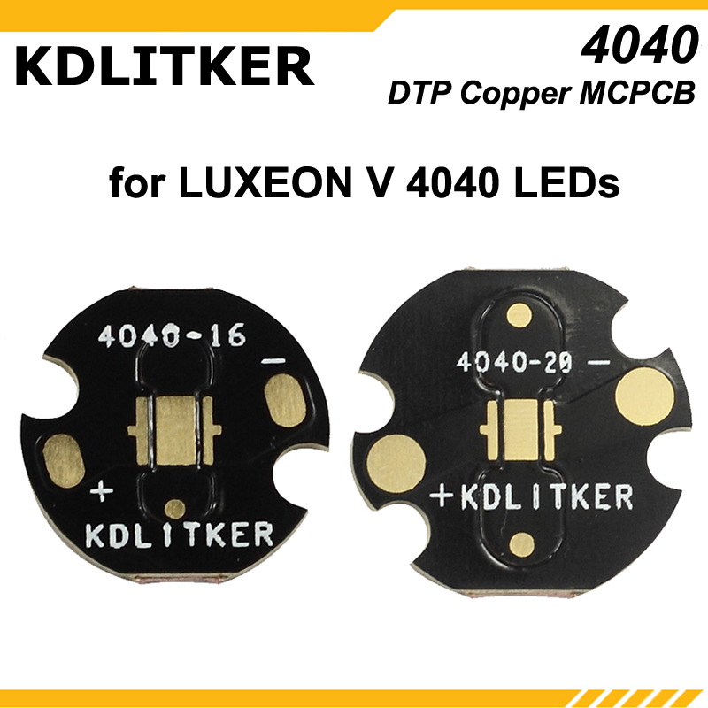 KDLITKER 4040-16 / 4040-20 DTP Copper MCPCB For Luxeon V / 4040 LEDs