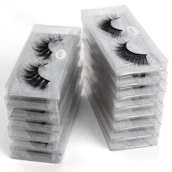 Wholesale Eyelashes 20/30/40/50/100 pcs Natural Mink 3d Lashes False Makeup Bulk