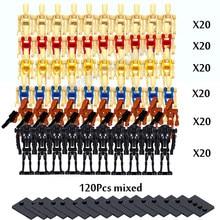 100 Série de Filmes B1 Pçs/lote Batalha Robô Droid Clone Tempestade Droideka K2-SO Blocos Tijolos DIY Brinquedos Figuras Para Crianças
