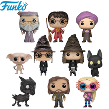 Funko POP Harry Ron Snape Luna Dobby Hermione Vinyl Action Figure Originais Box Collection Model Toys Birthday Gifts F01 harry potter theme keychain action figure collectible model vinyl dolls hermione jean granger severus snape