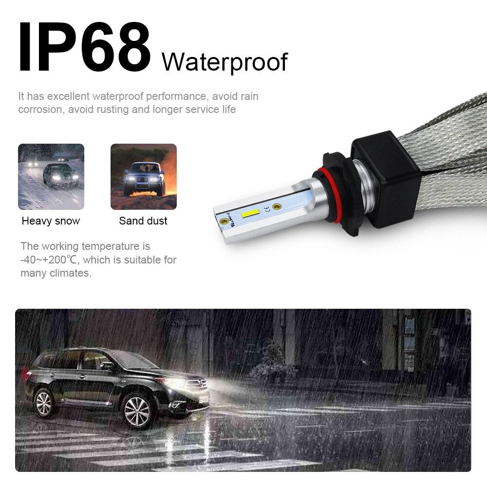 CROSSFOX Auto Lichter H3 LED H7 H1 H8 H9 H11 880 H27 9005 HB3 9006 HB4 H4 Led-lampen 9007 h13 Nebel Lampe 12V 6000K Auto Scheinwerfer