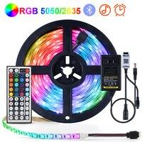 RGB LED Streifen Licht 5050 2835 Flexible Lampe Band Diode IR/Bluetooth steuer TV Hintergrundbeleuchtung Beleuchtung Innen schlafzimmer dekoration lampe