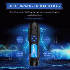 Image 5 - 5 מצב XHP90.2 עוצמה LED פנס רכיבה שיירת אור 50000lm פנס טקטי קמפינג Waterproof פנס לפיד בריחה