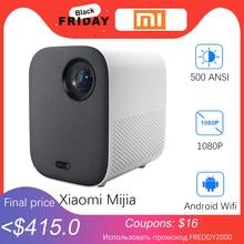 Xiaomi mijia若者のバージョンミニプロジェクタープロジェクターポータブルプロジェクターandroidホームシネマwifi ledテレビビデオproyector