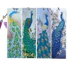 4Pcs Diamond Art Bookmark Embroidery Kit Diamond Painting Bookmarks DIY Special Shaped Drill Cross Stitch Number Kit Art Craft