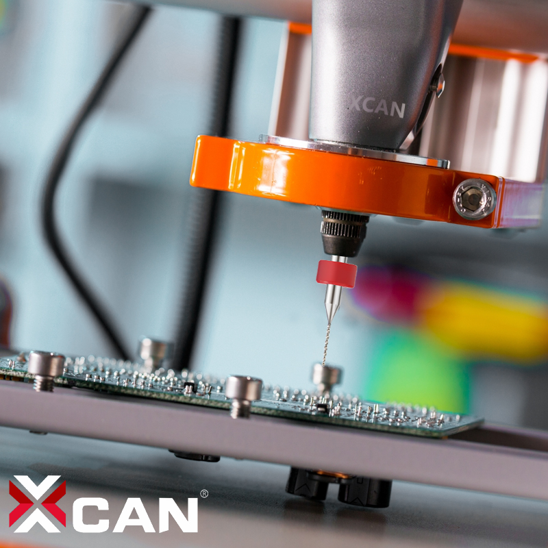 XCAN 10 stks / set 0.6mm Carbide PCB Boren, Printplaat Mini CNC Boor - Boor - Foto 5