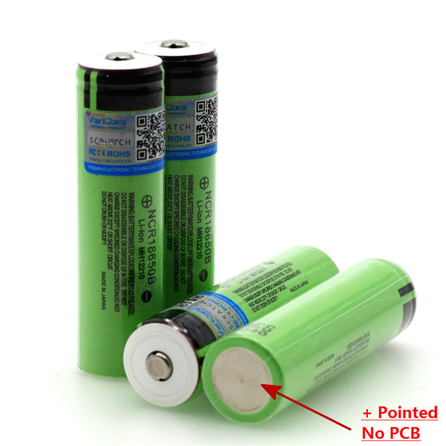 2021 New Original 18650 3.7 v 3400 mah Lithium Rechargeable Battery NCR18650B with Pointed (No PCB) batteries +Box 4