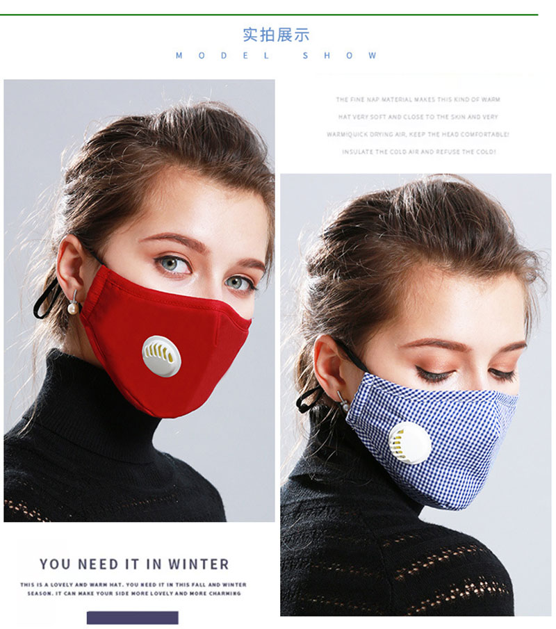 Hb71b06ce72c5402fa5e6f476c24af77fS Korean Fabric mouth face mask PM2.5 Anti Haze/Anti dust mouth mask Respirator mascaras With Carbon Filter Respirator Black Mask