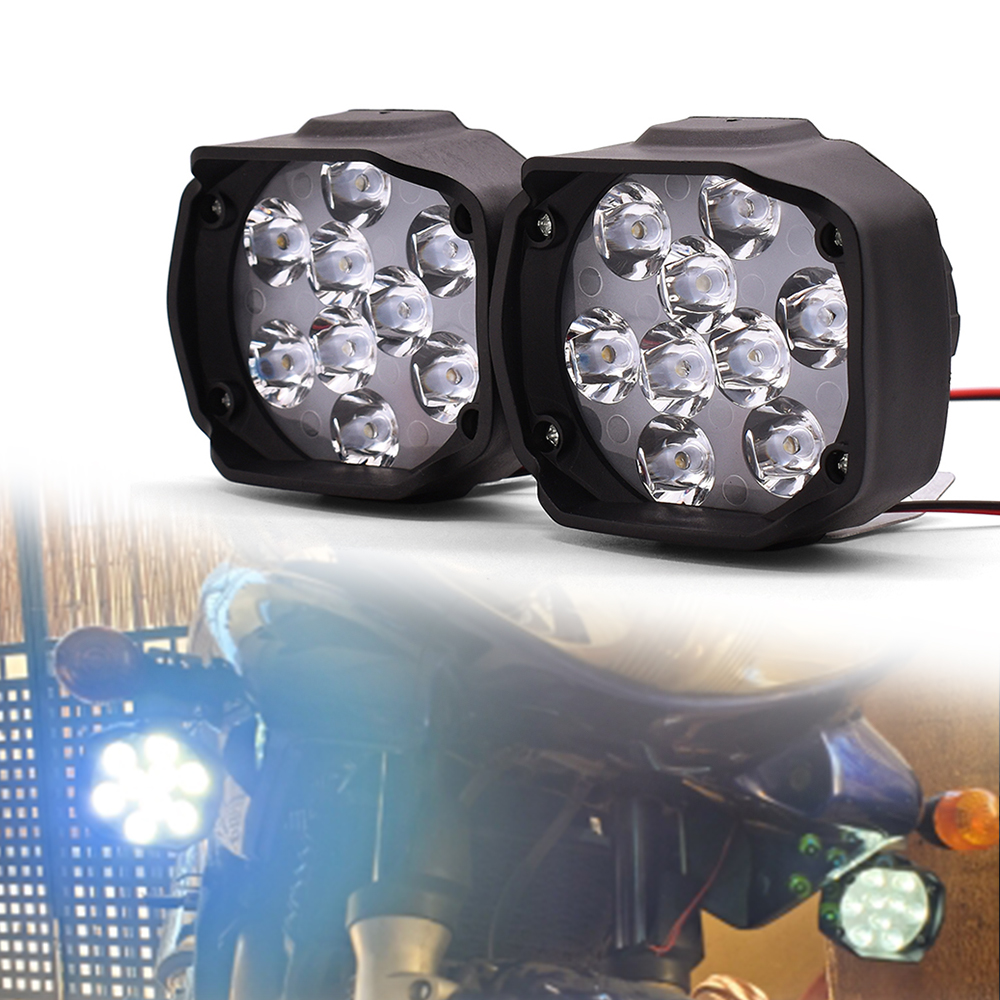 Universal Motorcycle Headlight White Super Bright Led Spotlight 1000LM Motorbike Auxiliary Fog Lamp 12V With Switch Neswest 2020