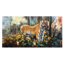 100% Hand Painted Tiger Of The Jungle Oil Painting On Canvas Wall Art Adornment Pictures For Live Room Home Decor
