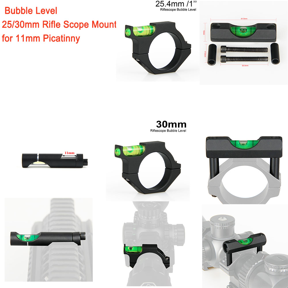 PPT Bubble Level Airsoft Guns Rifle Scope Mount For 11mm Picatinny Weaver Rail 25/30mm Rifle Sight Scope Mount CB-1