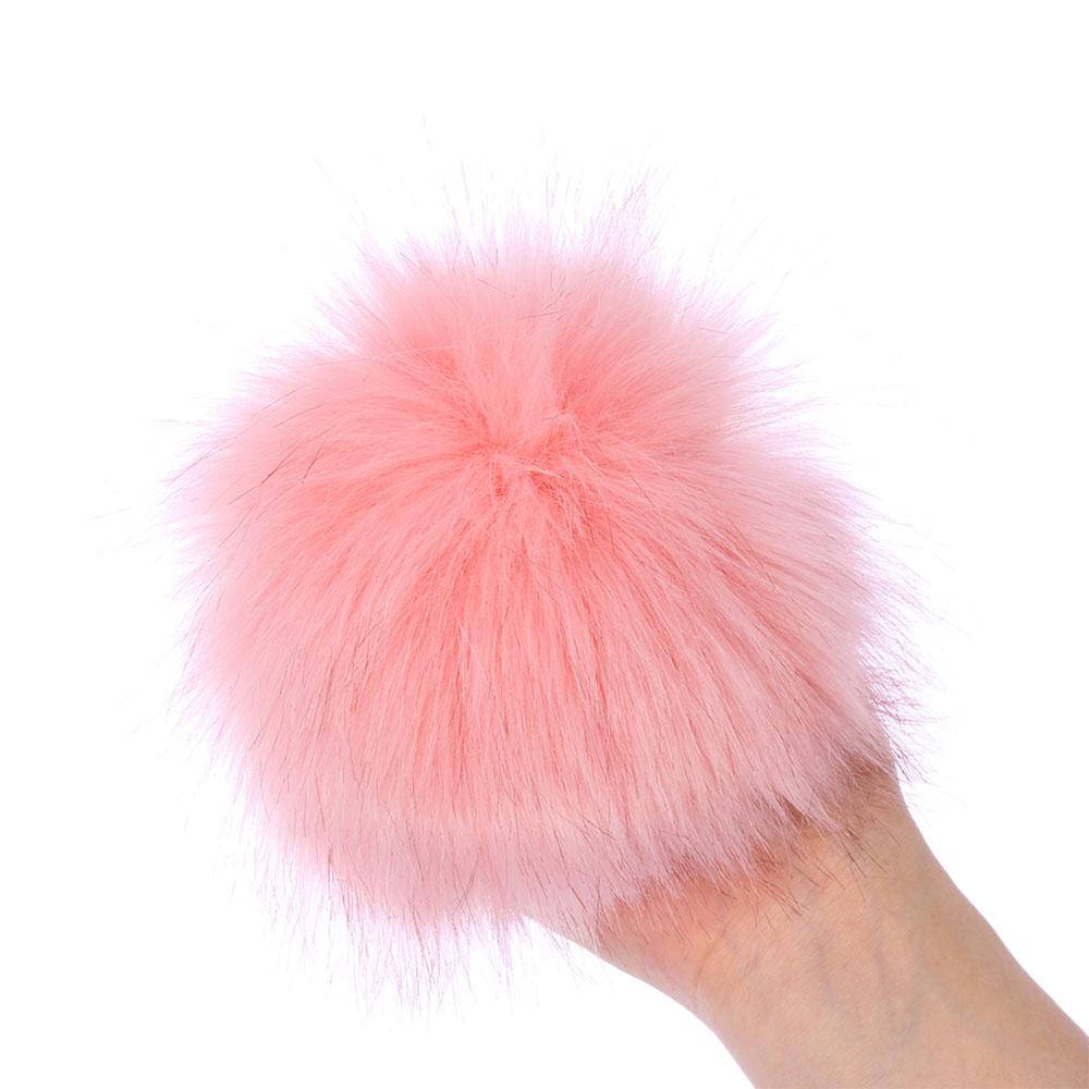 15 см цветные лисы Меховые помпоны для женщин шапка Меховые помпоны для шапок шапка s большой натуральный помпон из меха енота для вязаной шапки шапка - Цвет: 5