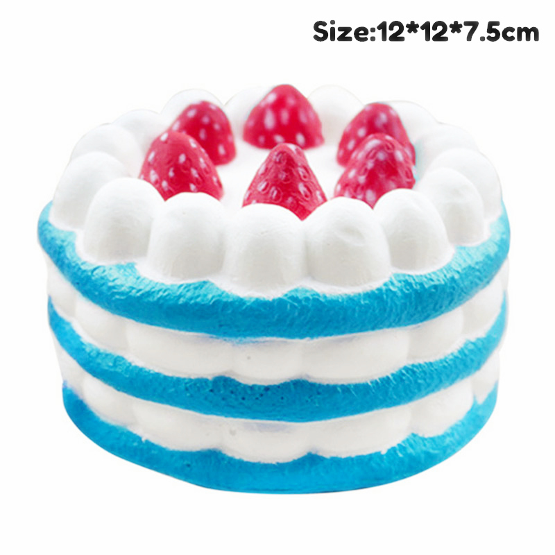 Antistress Squishy Toy Birthday Cake Milk Hamburger Cup Slow Rising Squeeze PU Simulation Snack Stress Relief Kids Toys Gift