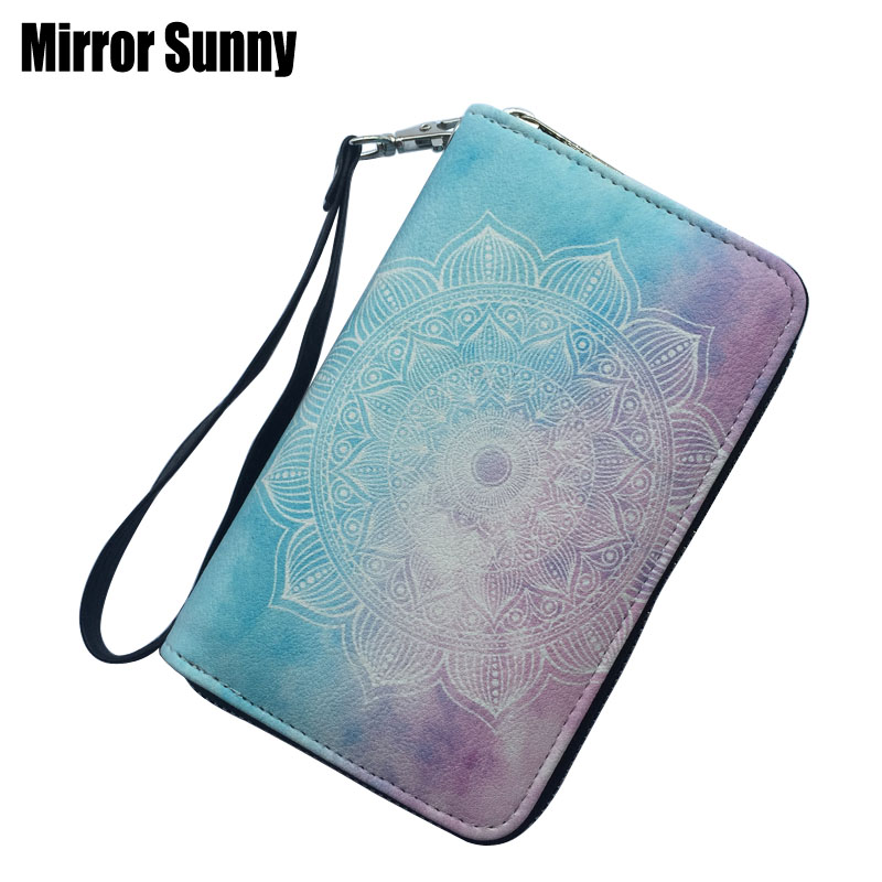 Women's Wristband Wallet Large Capacity Zipper Card Purse Hot Sale Female Leather Printed Coin Purse For Summer High Quality