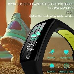 Image 2 - GPS фитнес браслет с измерением давления фитнес трекер здоровье кардио браслет пульсометр Шагомер умный Браслет