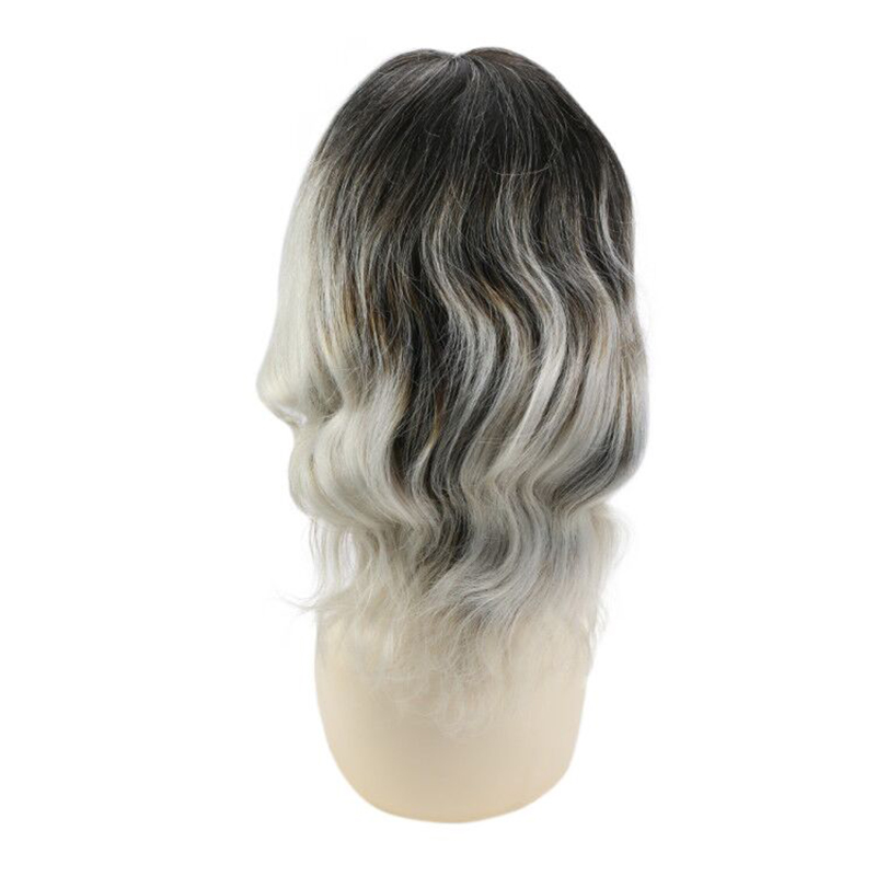 Moresoo Bob Wigs Short Human Hair Wigs Color #1B Off Black To Grey 8-14inch Machine Remy Lace Wig