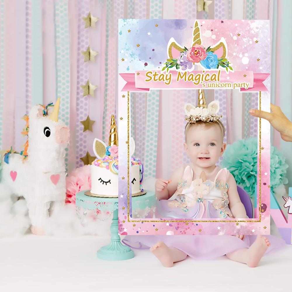 QIFU Baby Shower Unicorn Decor Unicorn Party Decoration Pink Girl Unicorn Party Supplies Unicorn Birthday Decorations Unicornio
