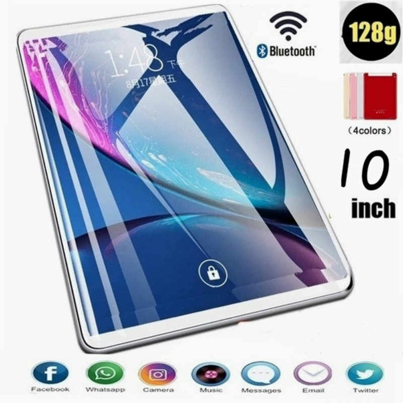 2020 yeni 10 inç Tablet PC Tablet telefon HD ekran kablosuz bluetooth öğrenme makinesi akıllı Android sistemi dokunmatik ekran 6G + 128GB