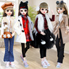 60cm Fashion Girl Doll Toy Decoration 22 Moveable Jointed DIY dress up Large version Princess Doll Set Dummy Model Girl Gift
