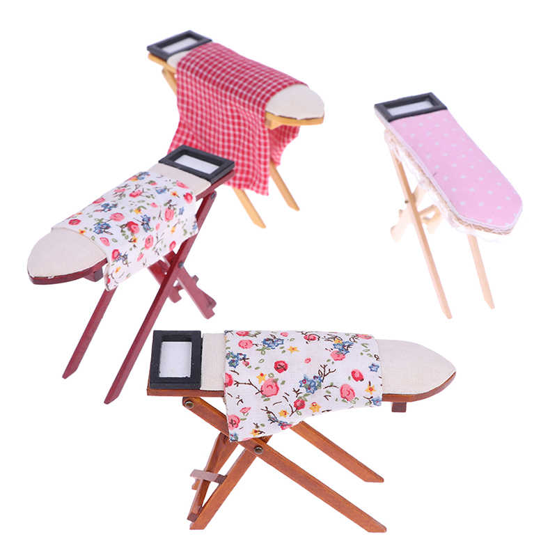 Dollhouse Room Decoration Children Girls Toy Gift Scale 1:12 Dollhouse Miniature Ironing Board Or An Iron DollHouse Furniture