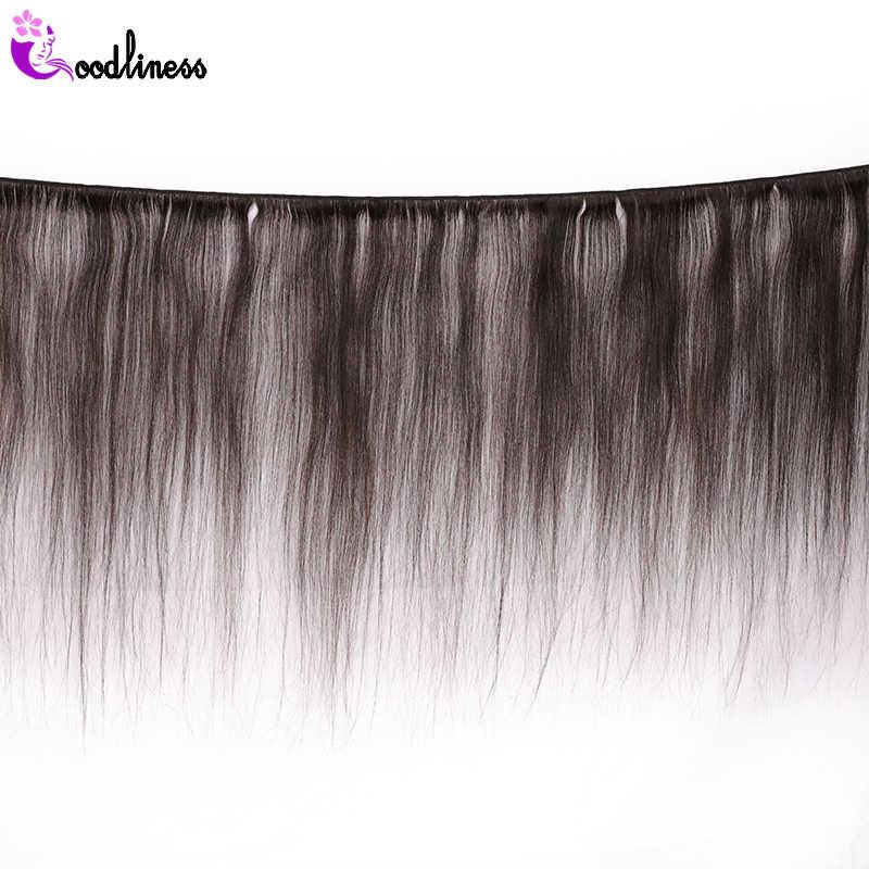"""Goodliness camboyano pelo liso tejido 3 paquetes Deal Remy extensiones de cabello Color negro Natural 8 """"-28"""" 100% cabello humano que teje"""
