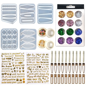 Hair Pin Resin Mold,Epoxy Resin Mold Hair Clip Barrette Casting Silicone Mould DIY Crafts Jewelry Hairpin Making Tools double one silicone mold gourd cabochon beads with hole mould for resin jewelry making diy craft