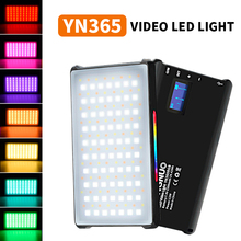 YONGNUO YN365 RGB 2500K 8500K Mini Video LED Light Portable Fill Light Built in Battery for Phone Camera Shooting Studio
