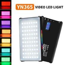 YONGNUO YN365 RGB 2500K 8500K de Vídeo Mini LED Luz de Preenchimento de Luz Portátil Built in Bateria para câmera do telefone Tiro do Estúdio