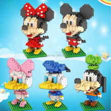 цена на hot Lepining creators classic Cartoon anime Mickey Minnie Donald Daisy mouse figures mini micro diamond blocks bricks toys gift