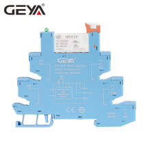 цена на Free Shipping GEYA Din Rail Slim Relay with Socket 6.2mm thickness 1 Channel Relay 12V or 24V or 220V