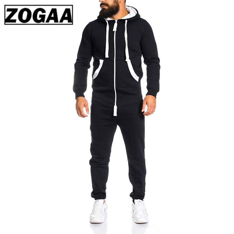 New 2 Pieces Sets Tracksuit Men Autumn Winter Pockets Hooded Sweatshirt + Sweatpants Sport Wear Sets Male Patchwork Sweat Suit