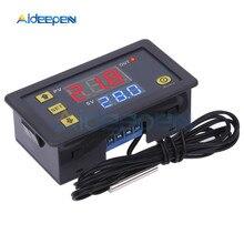 W3230 DC 12 В 24 в 110 В 220 В AC цифровой контроллер температуры светодиодный термостат с переключателем охлаждения нагрева NTC датчик