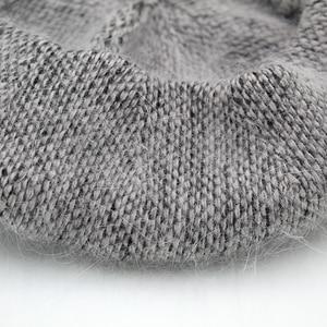 Image 4 - [Rancyword]  Fashion New Women Angora rabbit Solid Color Beret Female Bonnet Caps Winter All Matched Warm Walking Hat Beanie Hat