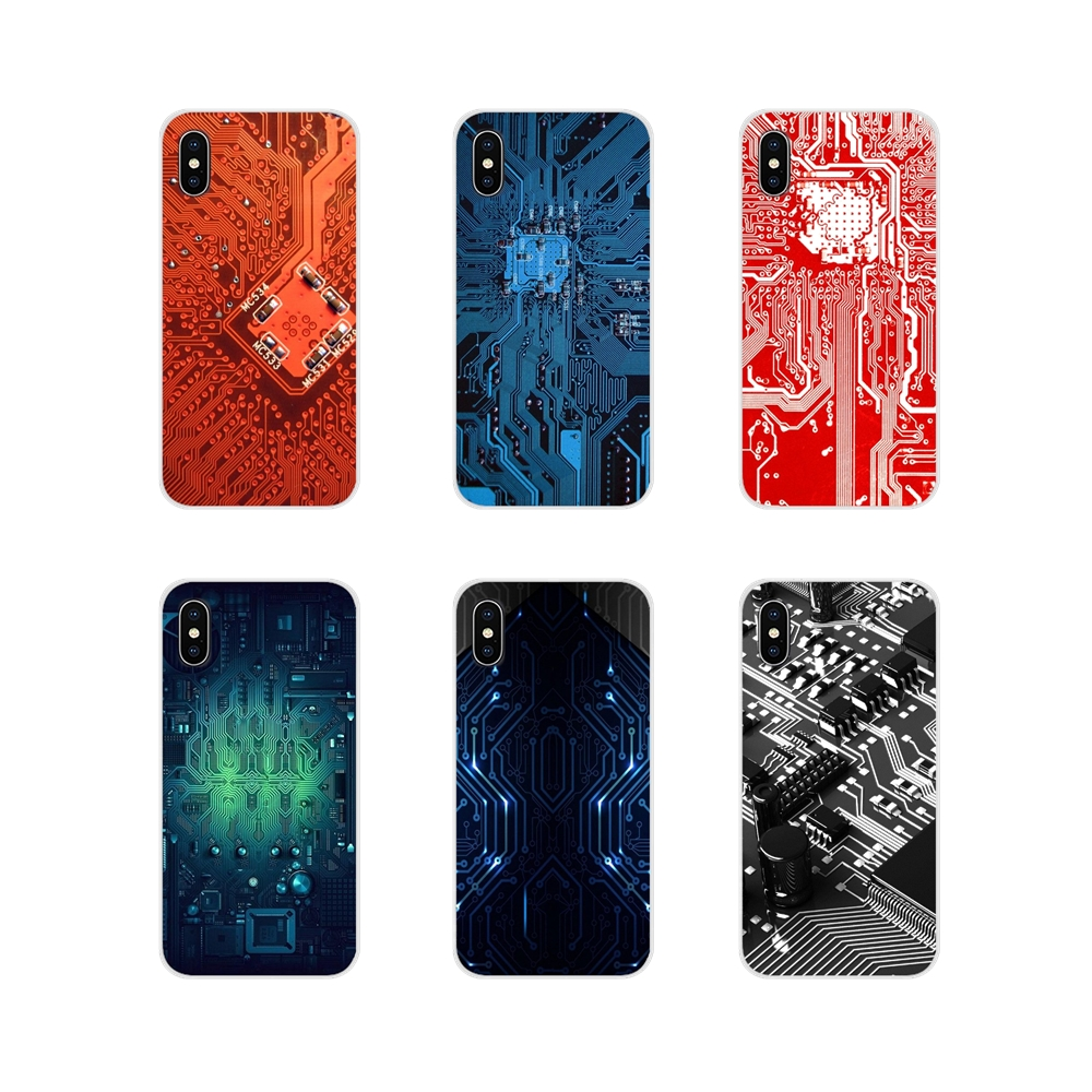 For <font><b>Huawei</b></font> Mate <font><b>Honor</b></font> 4C 5C 5X 6X <font><b>7</b></font> 7A 7C 8 9 10 8C 8X 20 Lite Pro Silicone Skin Cover Technology Circuit board <font><b>Motherboard</b></font> line image