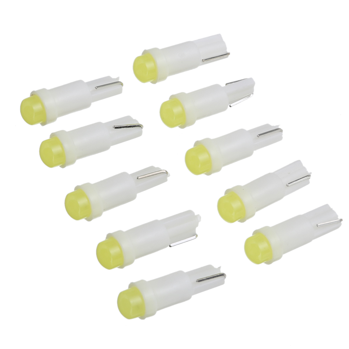 10pcs Car Interior Light T5 led 1 SMD led Dashboard Gauge Light T5 Instrument Wedge Light Car Light T5 Bulb