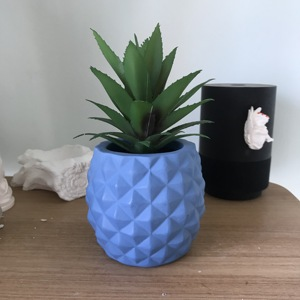 Декоративные 3D ананасовые бетонные формы для изготовления цветочных горшков, цементная Штукатурная смесь, форма для плантатора, большие гл...