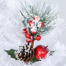 Red Berry Pine Cone Branch Christmas Tree Decoration Ornaments For Holiday Floral Decor Crafts Artificial Flower