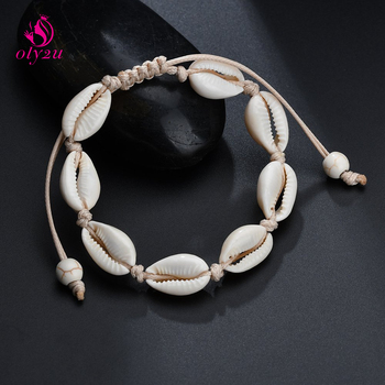 Handmade Shell Bracelets for Women Hawaiian Style Seashell Jewelry Beach Ornament Summer Pulseras men bracelet image