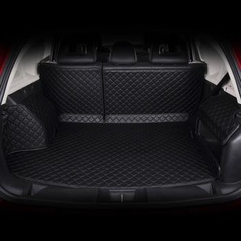 Dedicatef Full Surrounded Car Trunk  Mats for 5 Series 520i 523i 528i 530i 535i Trunk Mat Surrounded By Leather