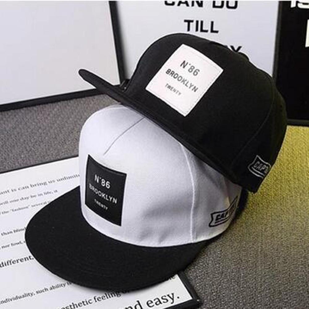 Men Womens Caps BROOKLYN Letters Solid Color Patch Baseball Cap Hip Hop Caps Leather Sun Hat Snapback Hats Accessories Men