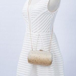 Image 5 - נשים של קריסטל מצמד זהב ערב תיק יוקרה חתונת מצמד ארנק נשי תיק אלגנטי כחול שחור כתף תיק ZD1452