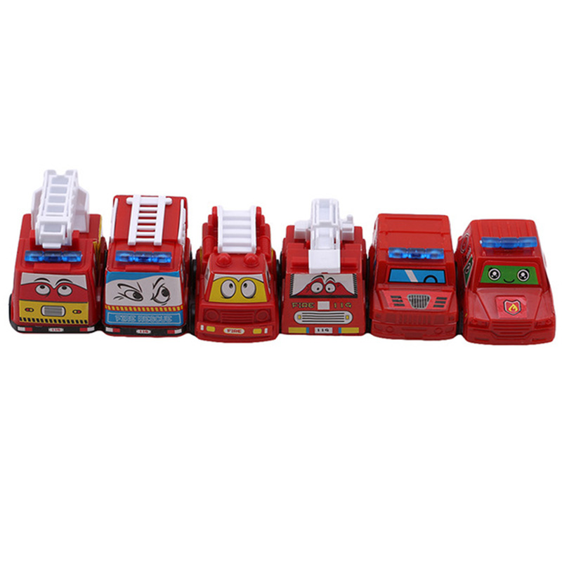 6Pcs Attractive Pull Back Car Toys Fire Model Mini Cars Race Car Fun Funny Gadgets Novelty Interesting Toys For Kid Birthday