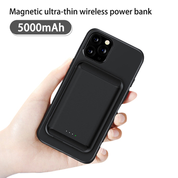 5000mAh Magnetic Wireless Charger Power Bank For iPhone 12 Pro Max 12 Mini Poverbank Portable External Battery Charger Powerbank image