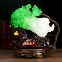 Jade Cabbage Desktop Decoration Gifts For Home Retro Traditional Chinese Gift Objetos Decorativos Antique Vintage  decor